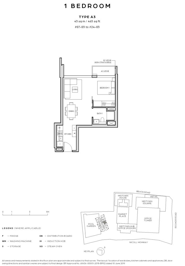 Floor Plan - Midtown Bay - 61001908